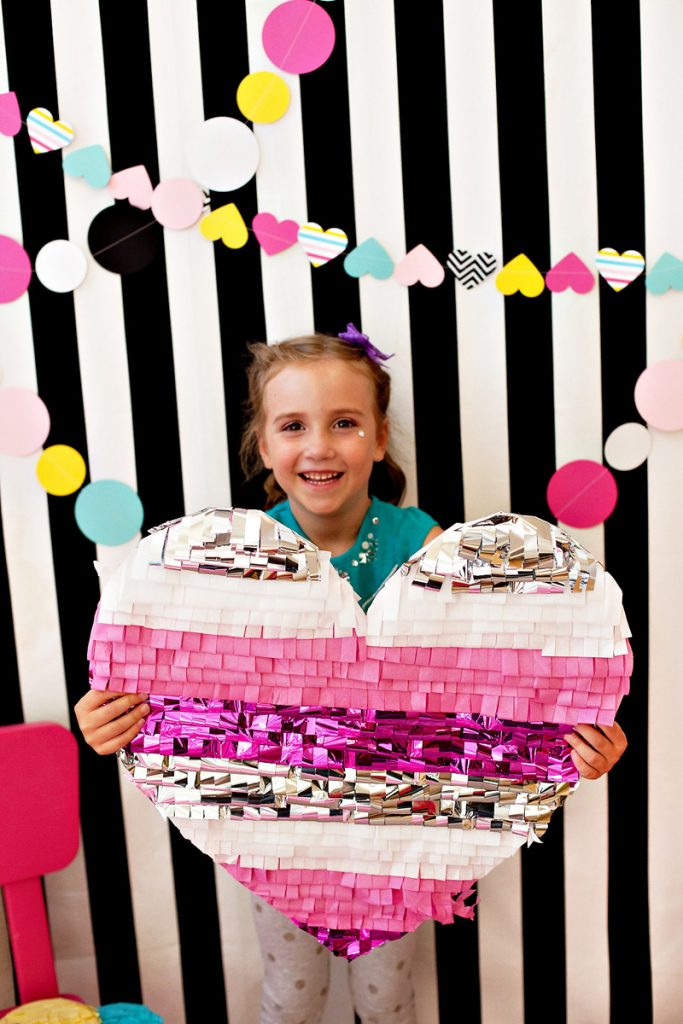 DIY Heart Pinata Photo Booth