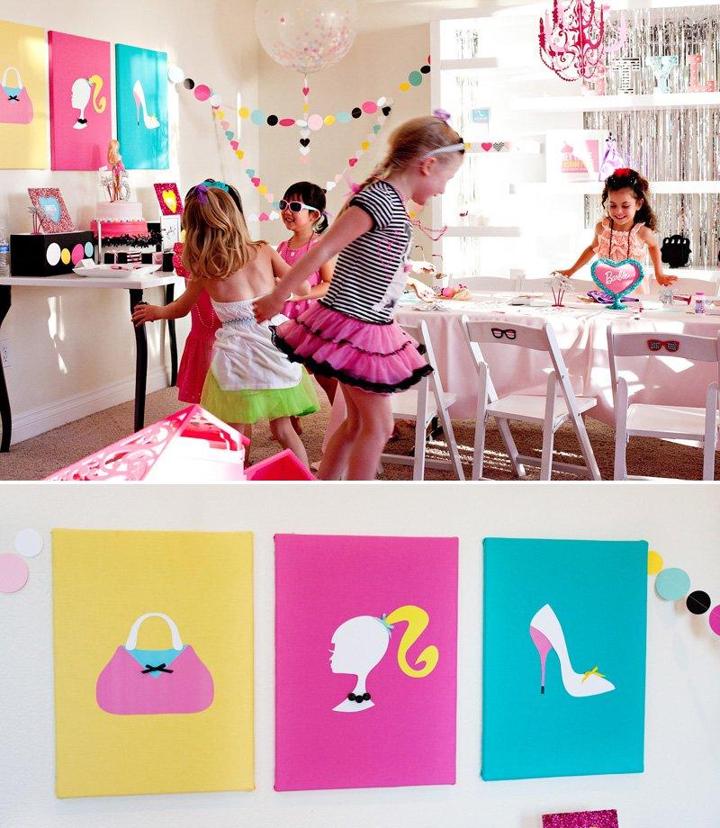 Barbie Birthday Party Ideas - by HWTM