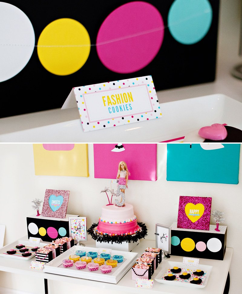 Barbie Dessert Table and Fashion Cookies
