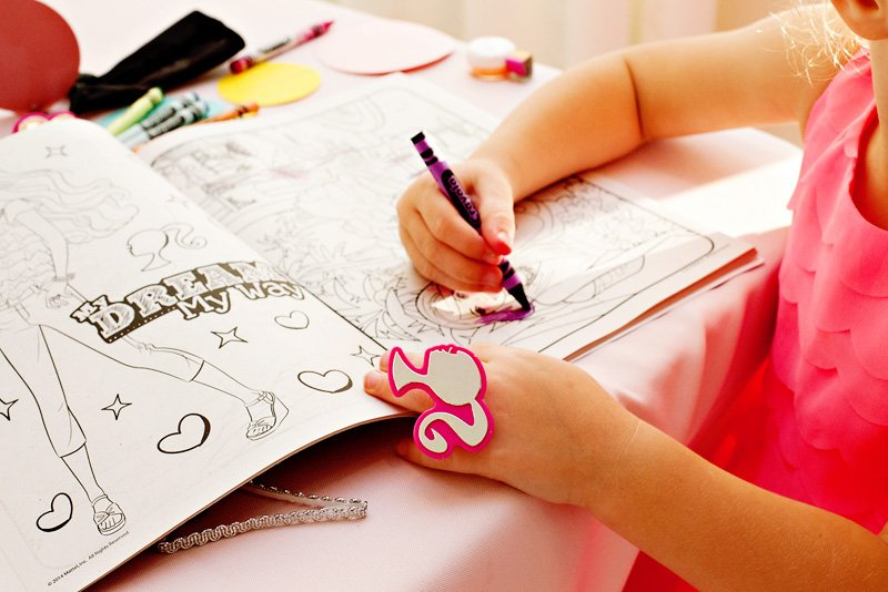 Barbie Coloring Book and Ring