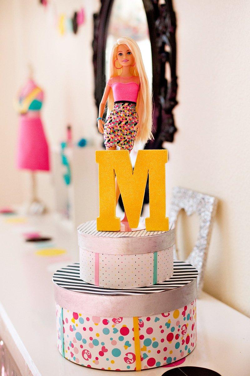 DIY Barbie Birthday Centerpiece