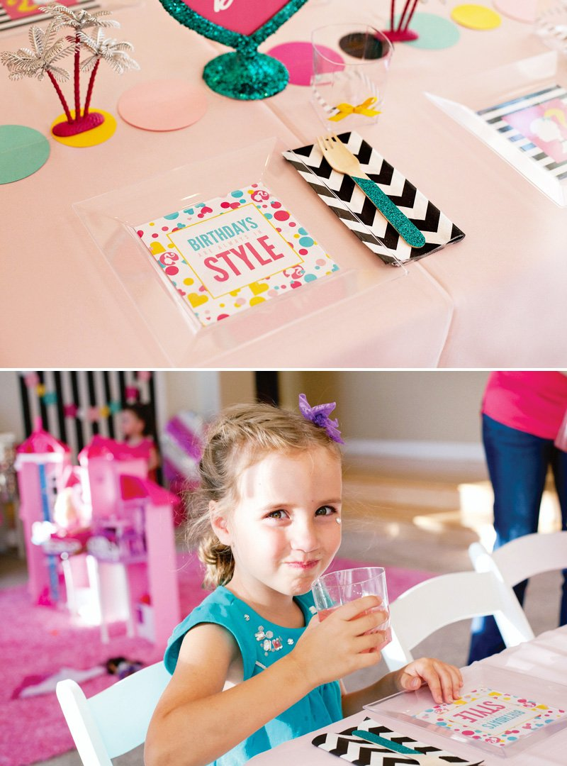 Barbie Birthday Place Settings