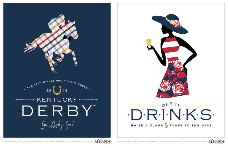 It's just a graphic of Delicate Kentucky Derby Printables