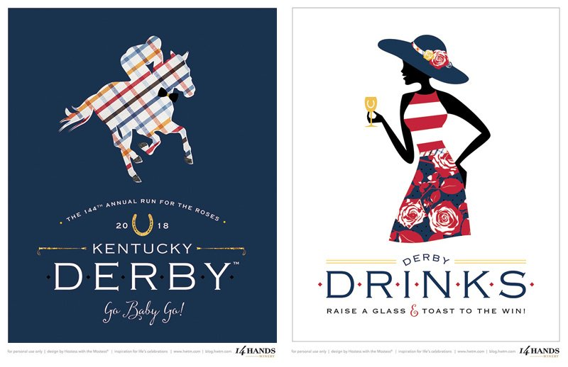 Kentucky Derby Printable Signs - 8x10