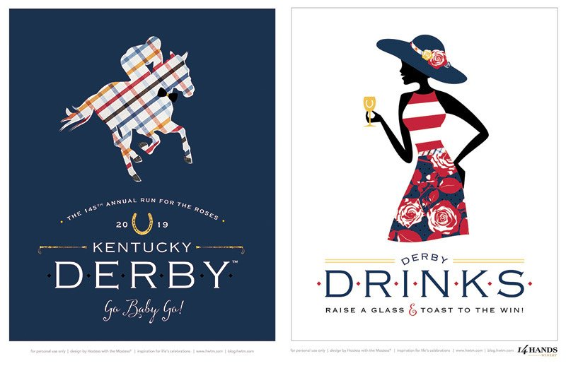 Kentucky Derby Party Signs 8x10