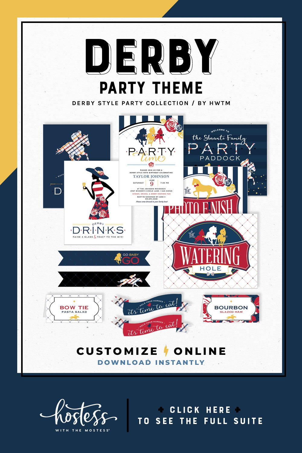 Derby Style Party Printables