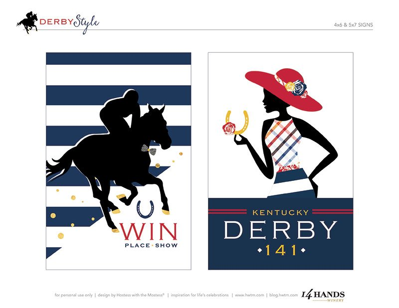 This is a picture of Genius Free Kentucky Derby Printables