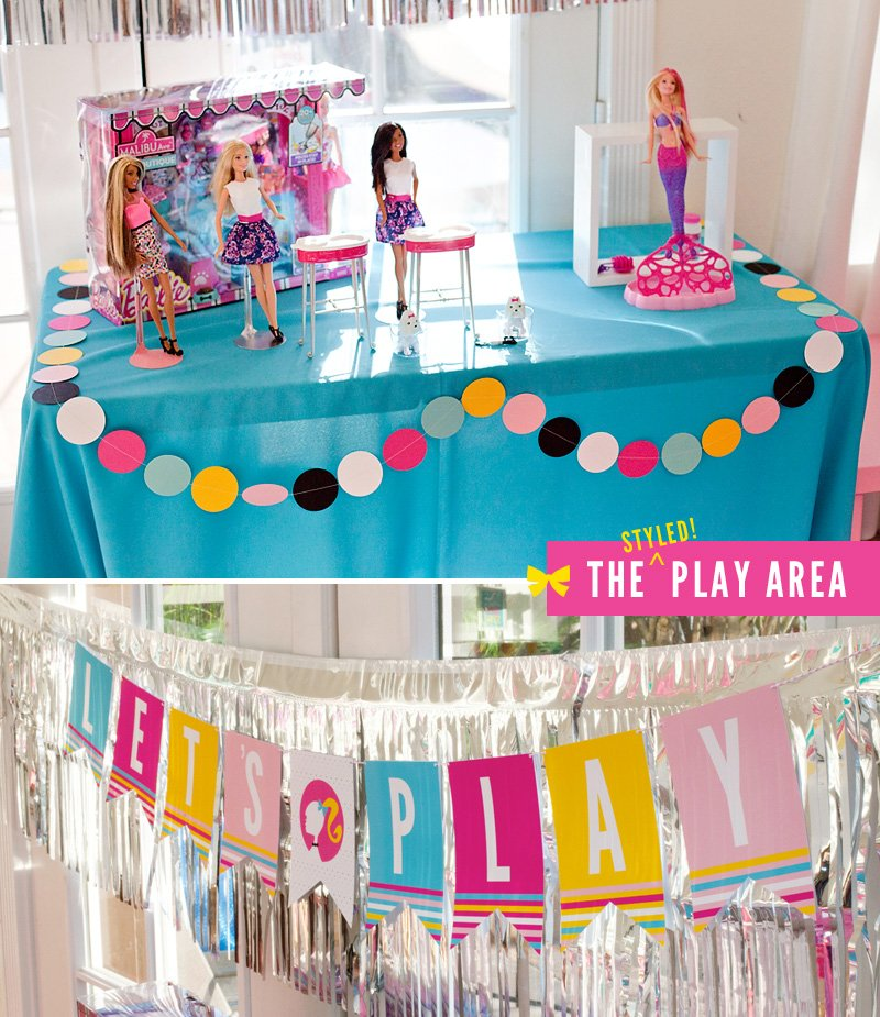 Barbie Birthday Party Play Area