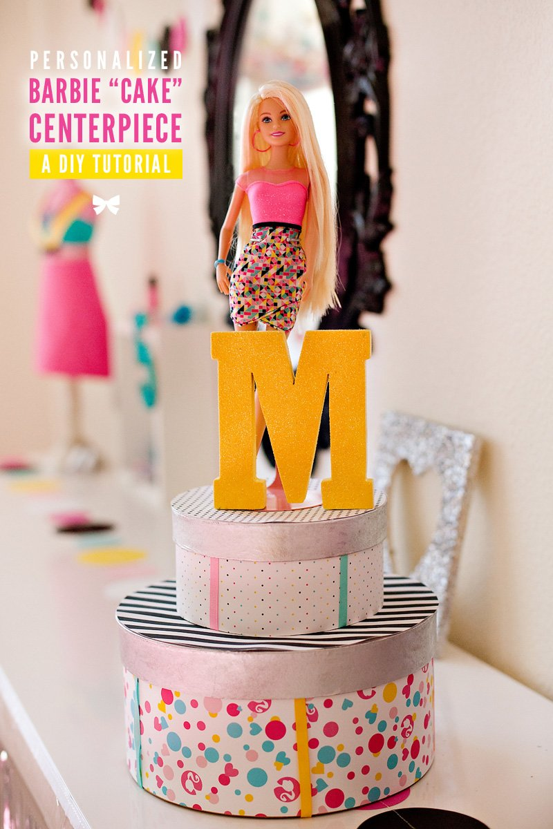 diy tutorial barbie birthday party centerpiece idea hostess with