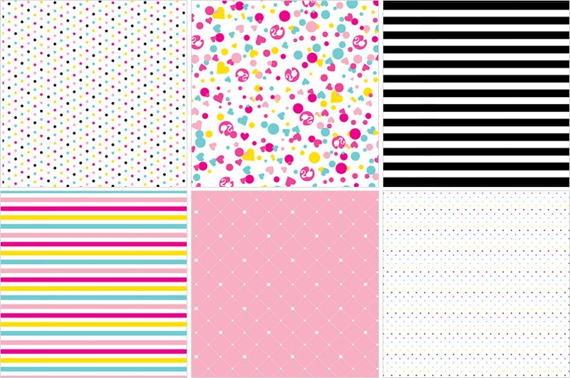 Barbie Party Paper Patterns by HWTM