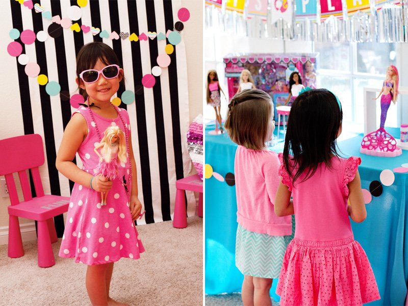 barbie party photo booth & play area