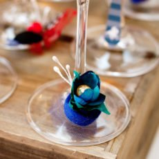 kentucky derby wine glass charms DIY