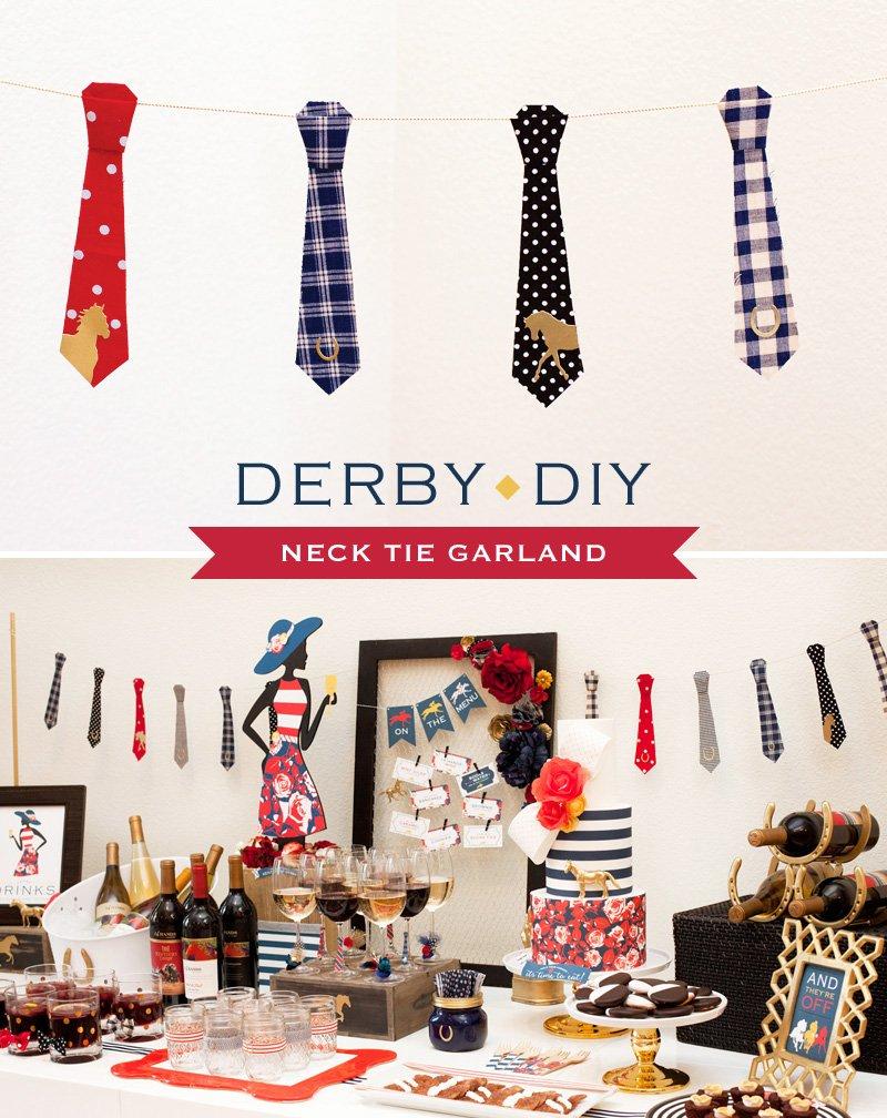 DIY Tutorial - Men's Neck Tie Party Garland