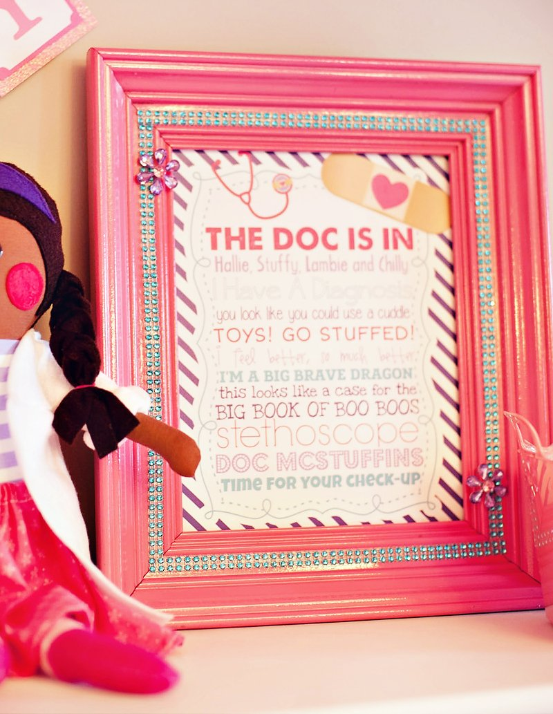Glitzy Adorable Doc Mcstuffins Birthday Party Hostess With The