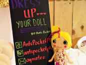 doll dress up birthday party activity