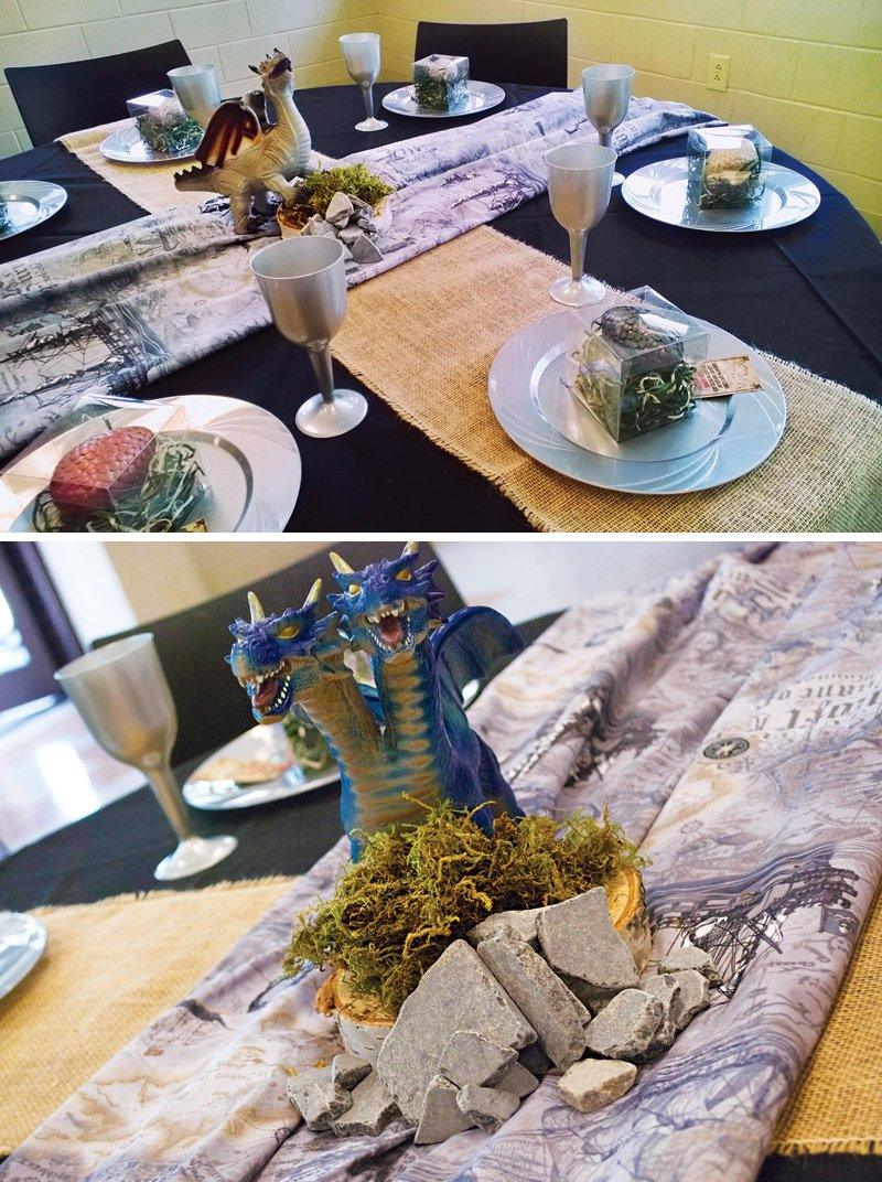how to train your dragon birthday party tablescape