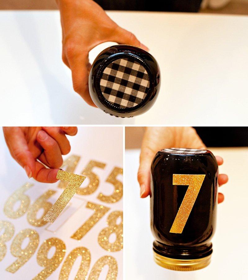 Race Horse Mason Jars - Black Gold