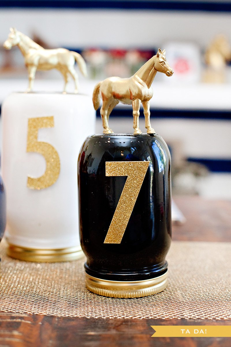 DIY Race Horse Mason Jar