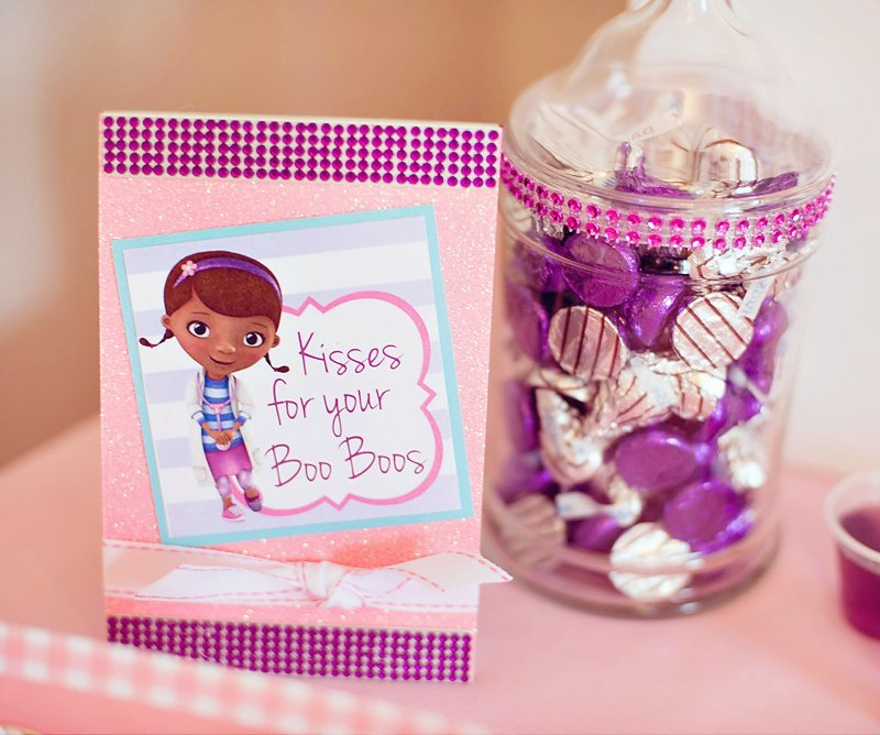 glitzy adorable doc mcstuffins birthday party hostess with