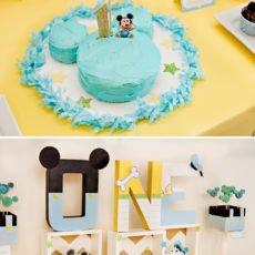Homemade Mickey Mouse Smash Cake