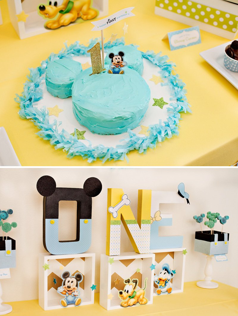 Homemade Mickey Mouse Smash Cake