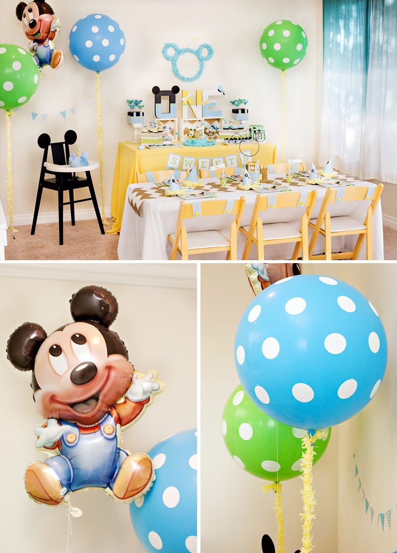 Creative mickey mouse 1st birthday party ideas free for Baby first birthday decoration ideas