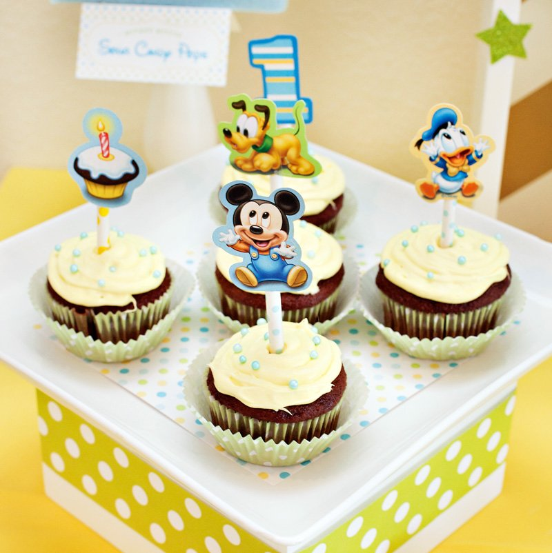 Mickey Mouse Birthday Party Cupakes DIY