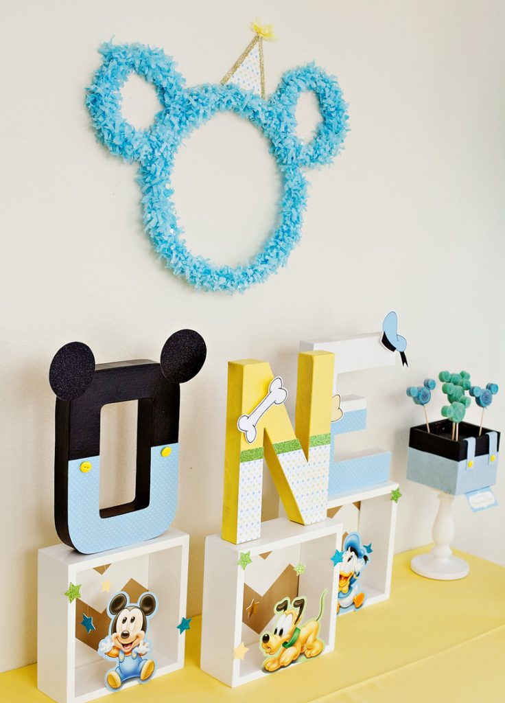 Mickey Mouse Birthday Centerpiece - Letters
