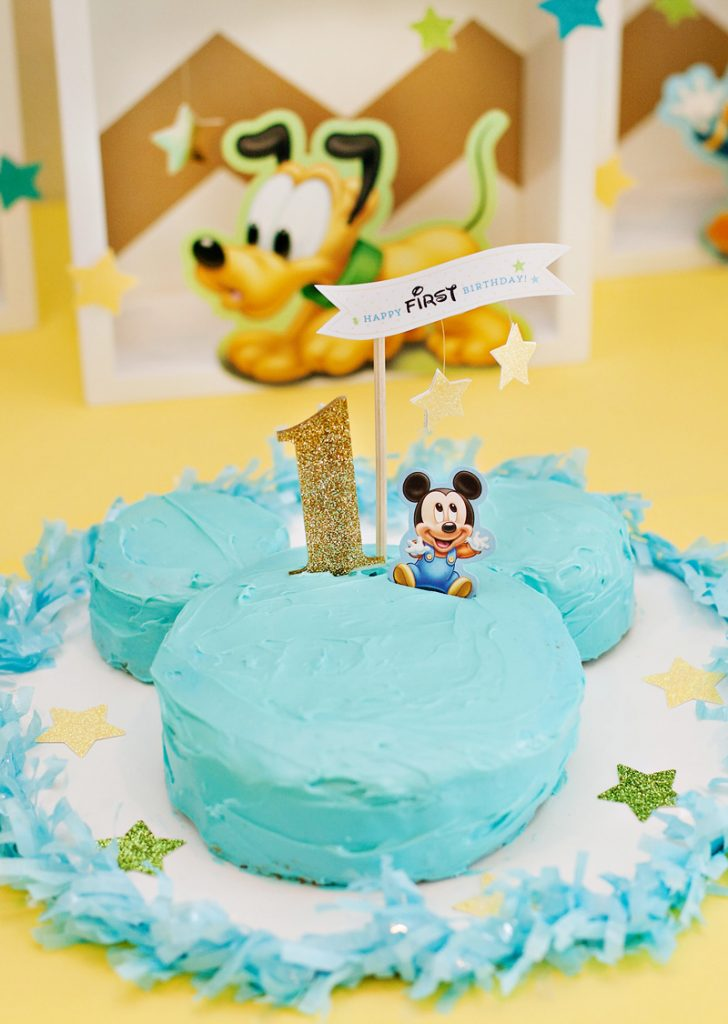 Mickey Mouse Birthday Smash Cake