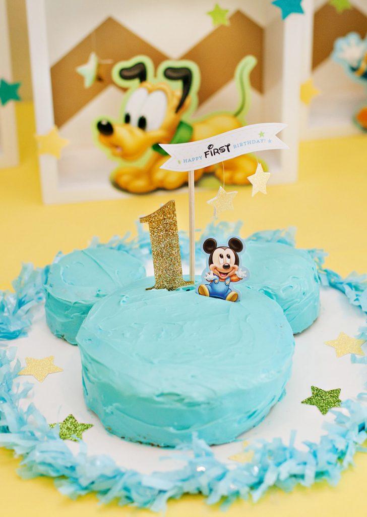 Mickey Mouse Birthday Smash Cake