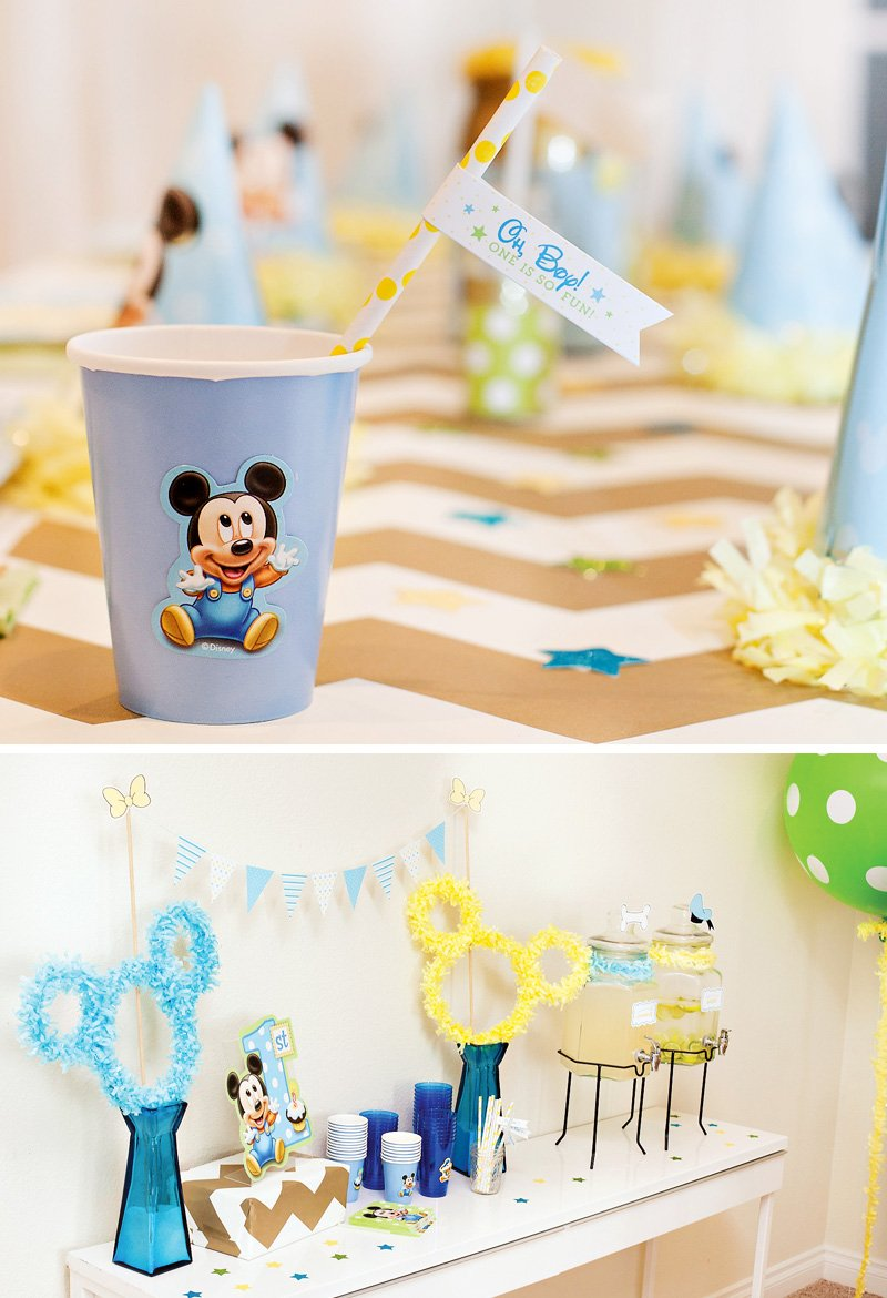 Creative Mickey Mouse 1st Birthday Party Ideas {+ Free