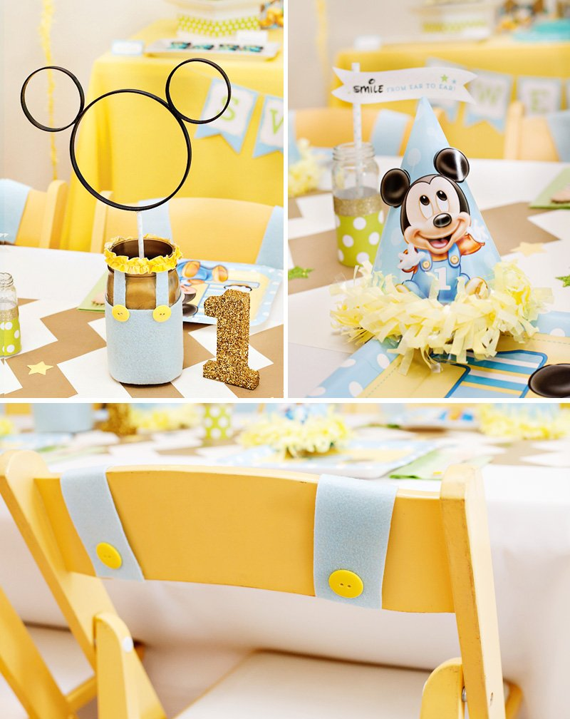 Mickey Mouse First Birthday Table