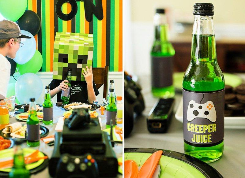 Minecraft Party Creeper Juice