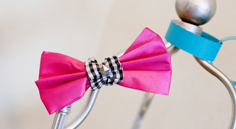 Funky Pink Satin Bow