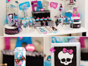 Monster High Theme Dessert Table