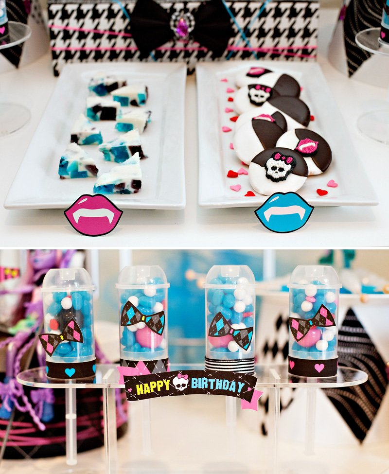 Monster High Party Ideas - Free Printables HWTM