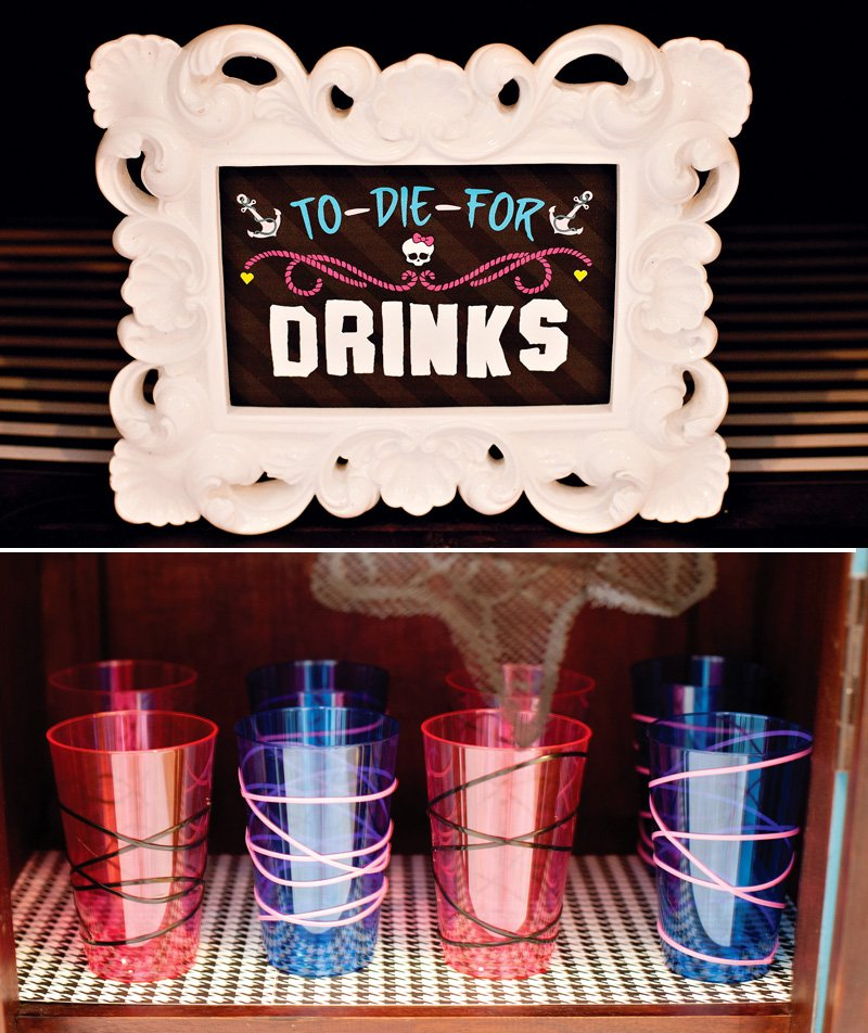 Monster High Printable Drink Sign