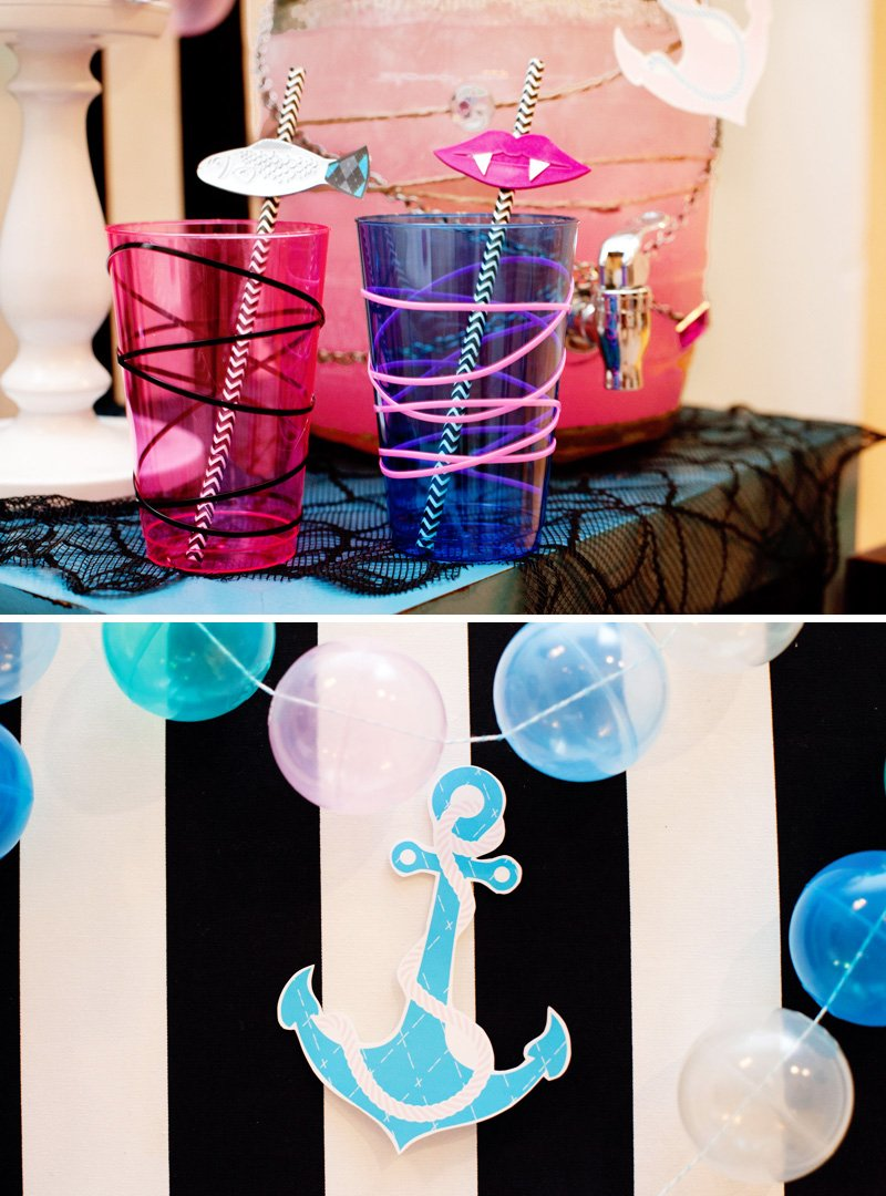 Pink and Blue Drink Station - Pirate Ghost