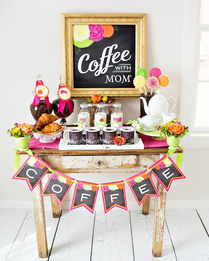"Bright & Happy ""Coffee With Mom"" Brunch {Mother's Day}"