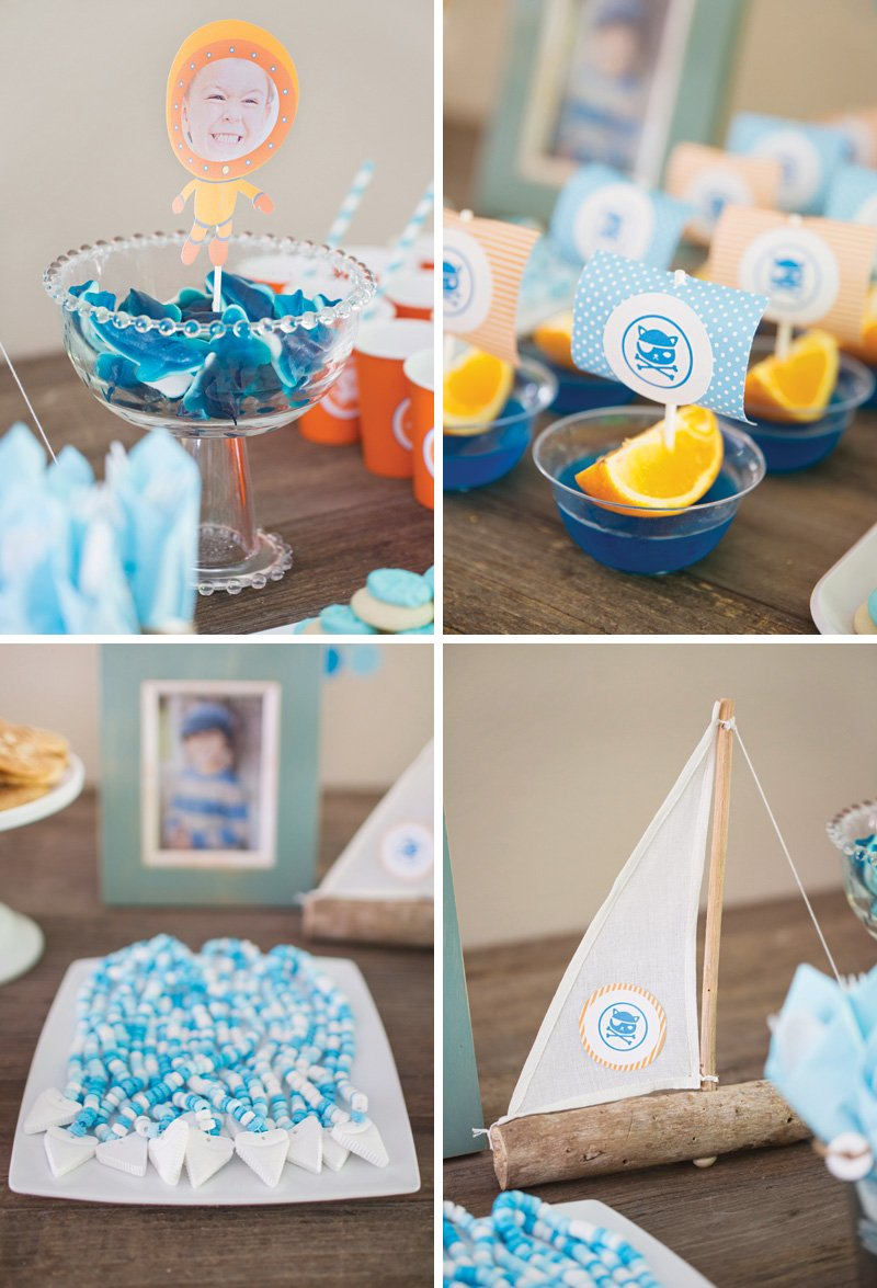 ocean party themed snacks