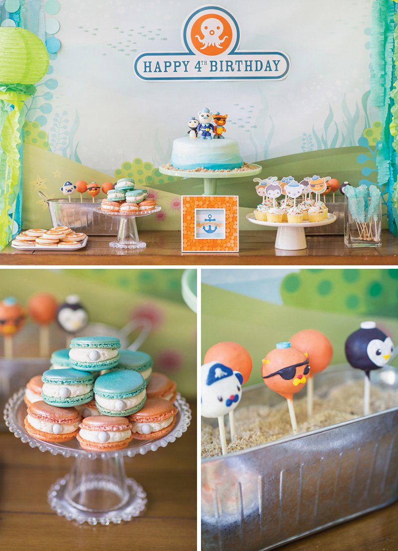 Octonauts Birthday Party Dessert Table