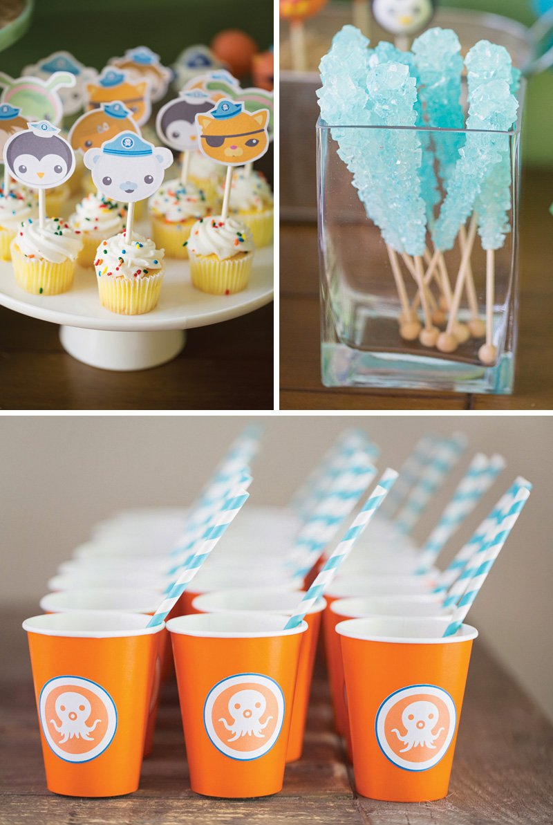 octonauts themed cupcake toppers