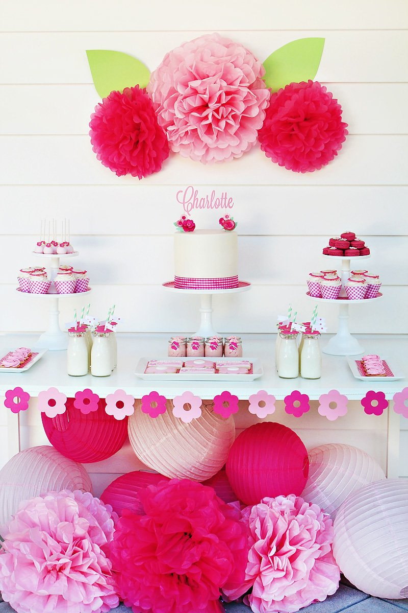 pink flower party