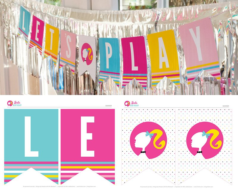 Colorful Barbie STYLE Birthday Party - Free Printables ...