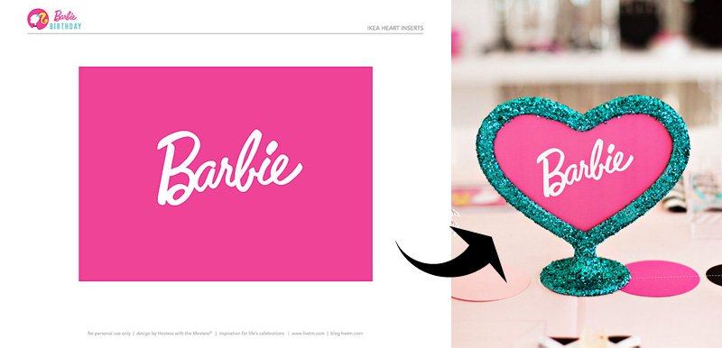 Barbie Heart Frame Insert by HWTM