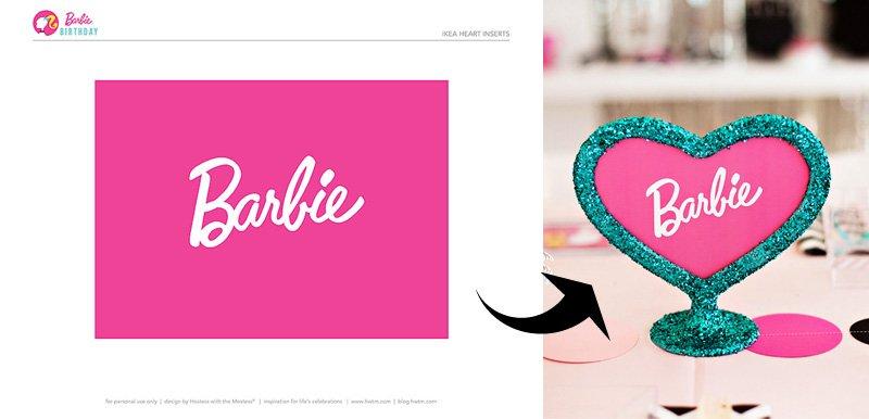 Barbie Heart Frame Insert by HWTM