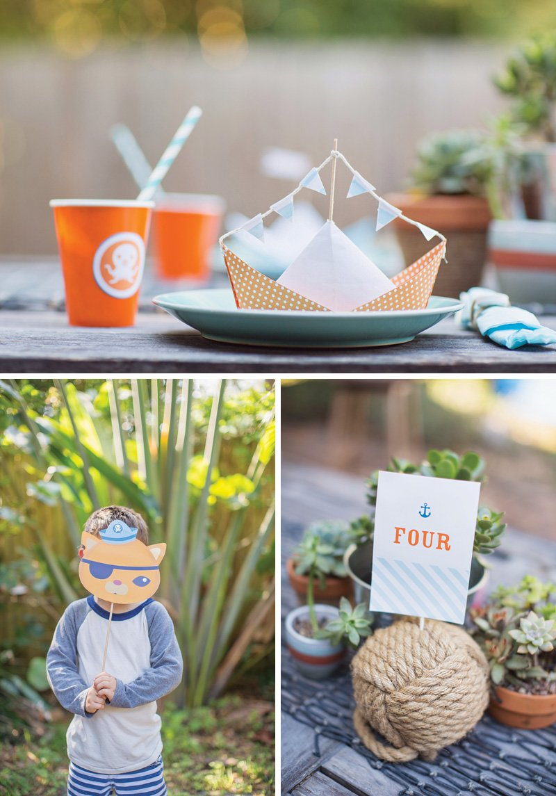 sailboat themed tablescape place settings