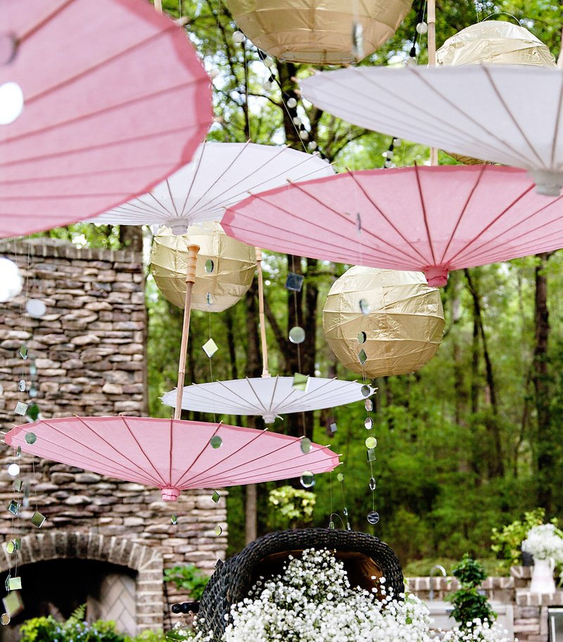 Glitzy pink gold baby sprinkle shower hostess with