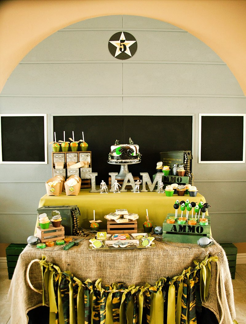 Amazing Patriotic Army Party (Liam\'s Boot Camp) // Hostess with the ...