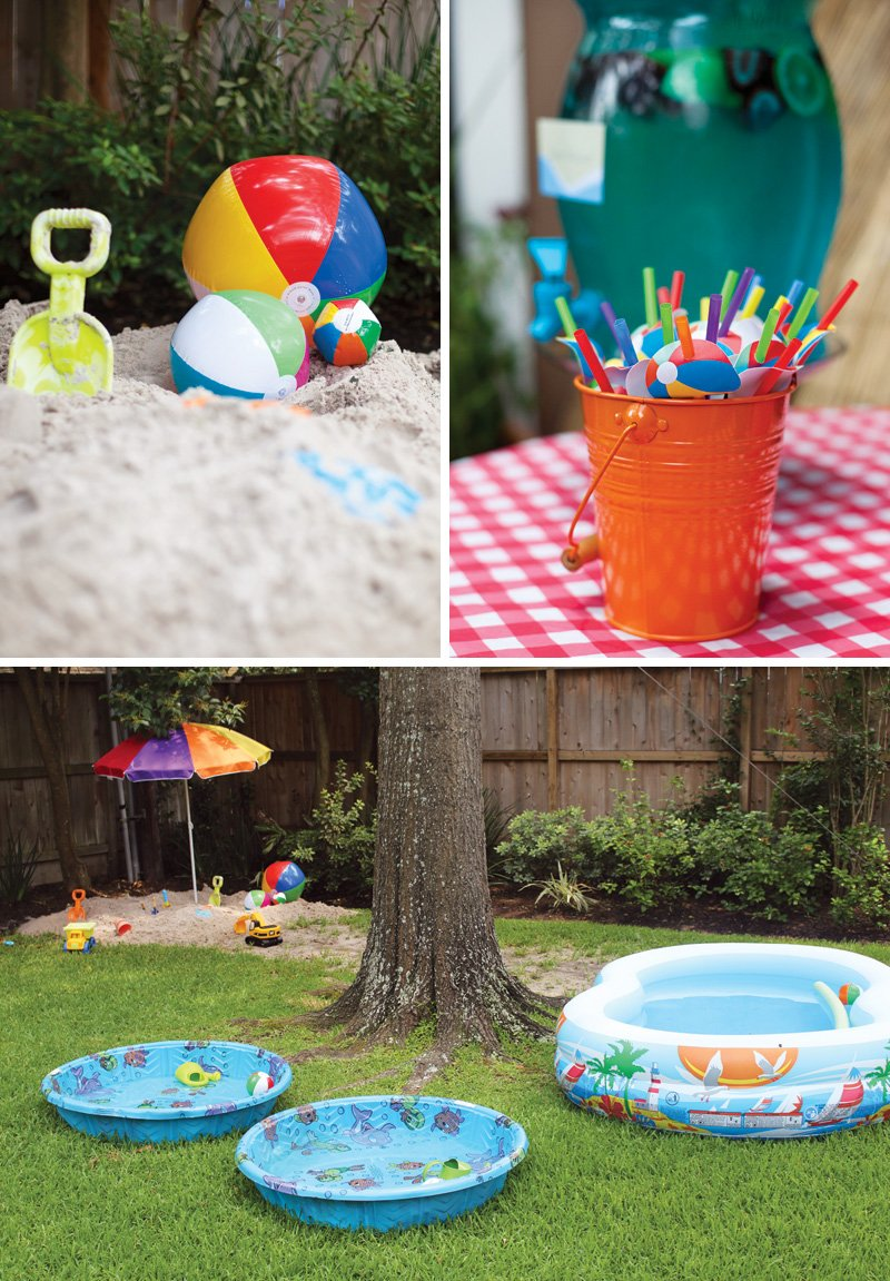 backyard beach birthday party ideas